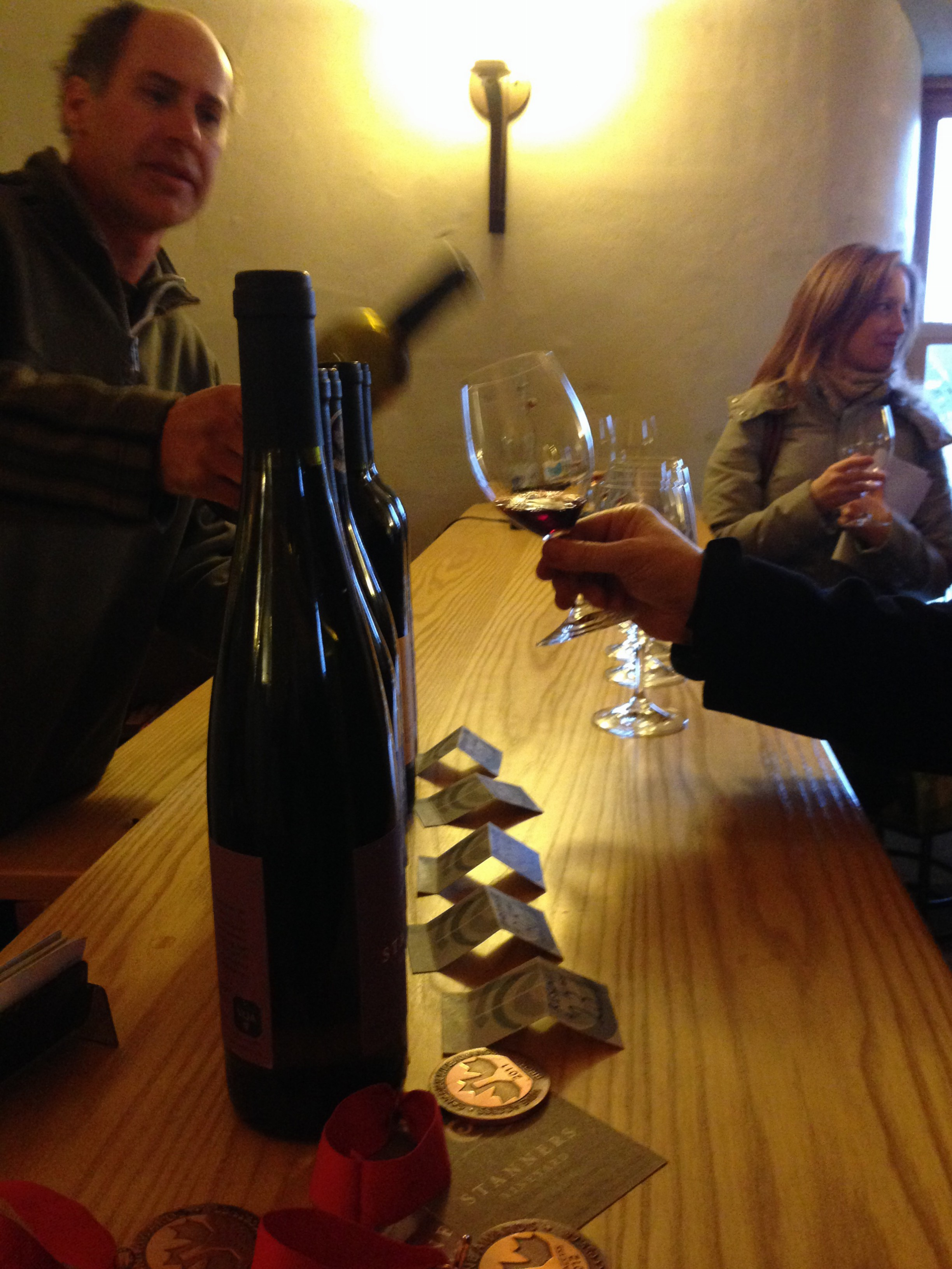 Getting a taste at Stanners Vineyards